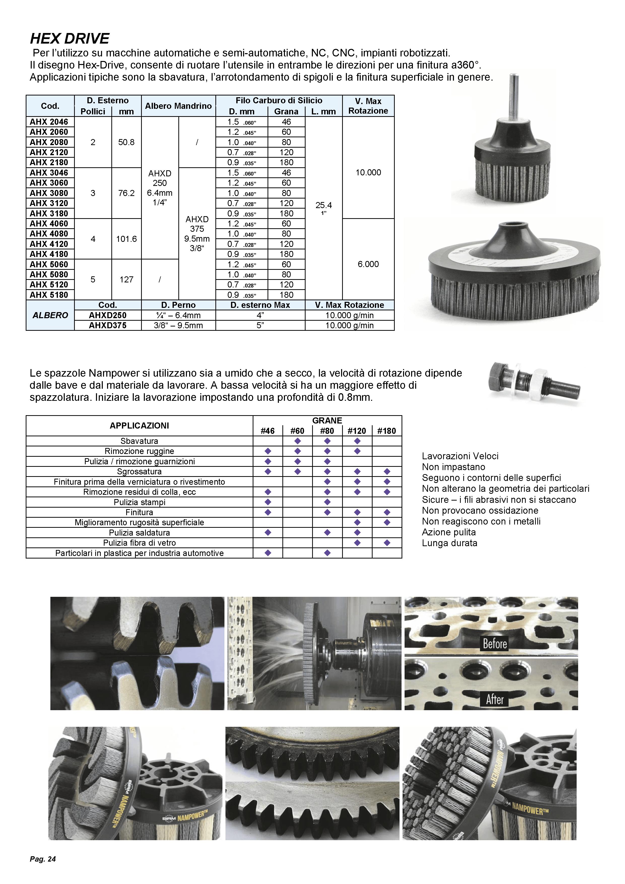 24-spazzole-frontali-hex-drive-nampower-sbavatura-finitura-cnc