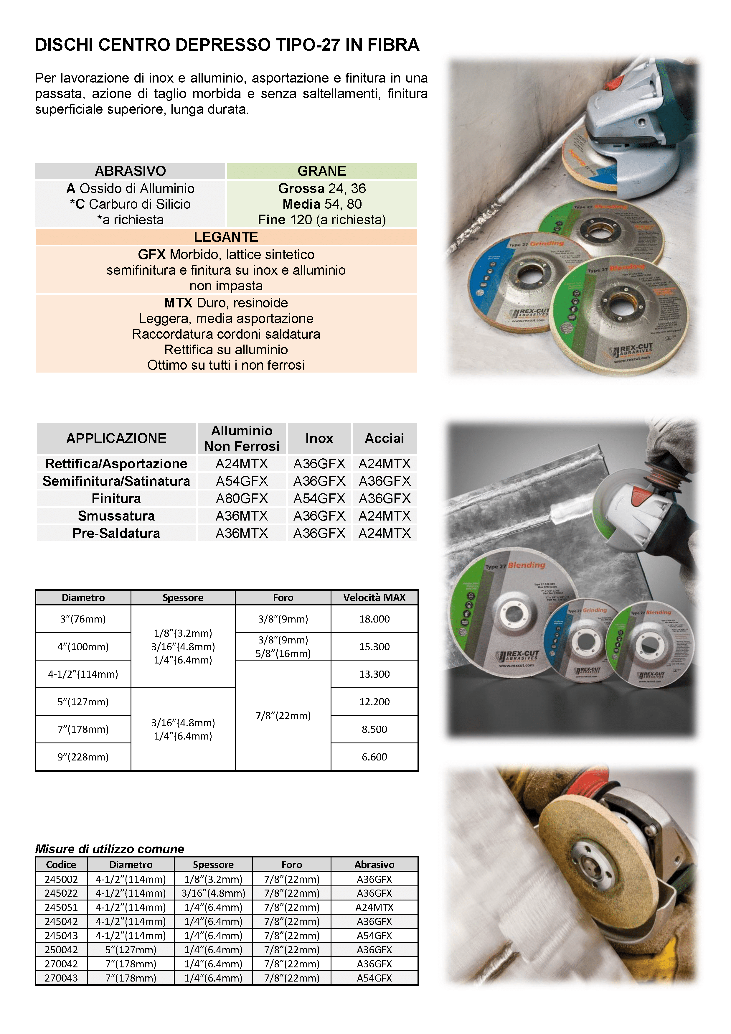 rex-cut-abrasivi-fibra-cotone-abrasivo-dischi-centro-depresso-tipo-27